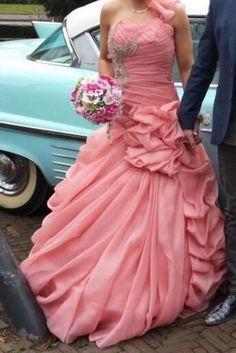 ≥ Trouwjurk roze bruidsjurk verlovingsjurk prinsessenjurk roze - Trouwkleding en Trouwaccessoires - Marktplaats.nl