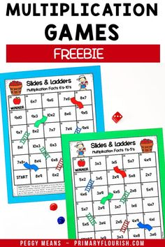 Make practicing multiplication fun with these engaging partner games! Use them for free time, homework, fast or early finishers, centers or stations. Great printables for your 3rd, 4th grade, or home school students. Your class will enjoy mastering the basic multiplication facts with these activities. {third, fourth graders, freebie}