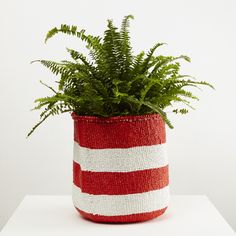 Mifuko Basket With Red Stripes
