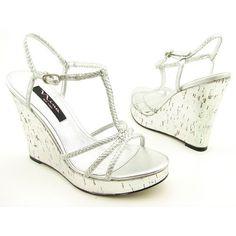 Nina Calinda Silver Platform Wedge Sandal - InfoBarrel