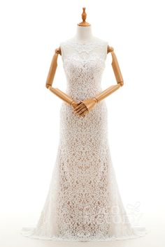 Back wedding dress with appliques ld4176 weddingdresses cocomelody