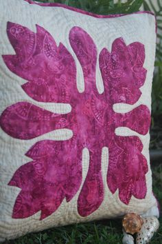 Hawaiian quilted pillow!