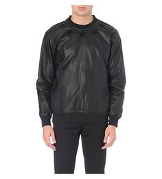0c33b1da8ace0 Givenchy leather and cotton sweatshirt Pulls on Crew neck