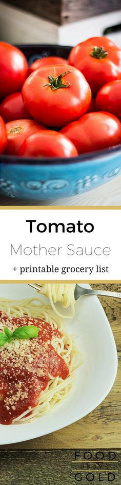 """Learn how to make a true Mother sauce Tomato Sauce, + 7 top tips for improving taste, & the answer to """"How do I balance the flavor?"""". via @foodabovegold"""