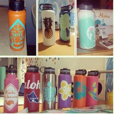 Hydro flask stickers custom decals for your hydroflask pineapple stickers custom name sticker personalized sticker Handmade in Kailua Hawaii by 3rdAveShore on Etsy https://www.etsy.com/listing/224976317/hydro-flask-stickers-custom-decals-for