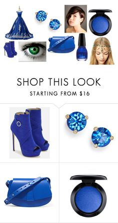 """""""Sierra's Formal Outfit"""" by lizzie12304 on Polyvore featuring JustFab, Kate Spade, Nico Giani, MAC Cosmetics and Revlon"""