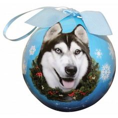 Siberian Husky Shatterproof Dog Breed Christmas Ornament
