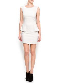 MANGO - OUTLET - Peplum dress