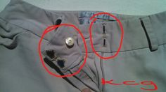 Alterations. Replaced hook and eye sliders and a button.