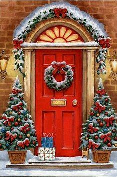 Christmas Post, Christmas Scenes, Winter Christmas, Xmas, Merry Christmas, Family Christmas, Illustration Noel, Christmas Illustration, Illustrations
