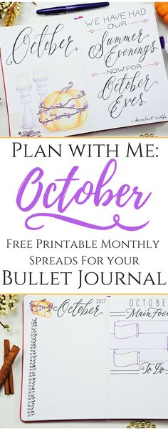 Grab your Free October Bullet Journal Bundle!