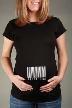 PRICELESS Black Short Sleeve Maternity Shirt T-shirt