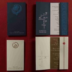 Invitations - Vertical and with a single insert pasted on folder.
