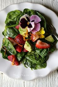 Avocado Strawberry and Spinach Salad