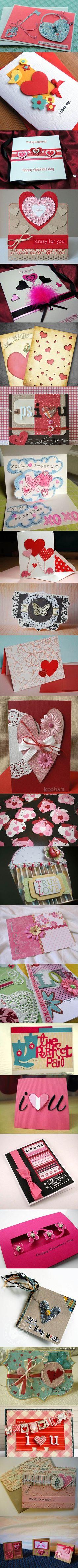 25 Valentine's Day Card DIY Ideas | iCreativeIdeas.com Like Us on Facebook ==> https://www.facebook.com/icreativeideas