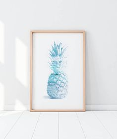 Pineapple PrintTropical Printable Art Pineapple