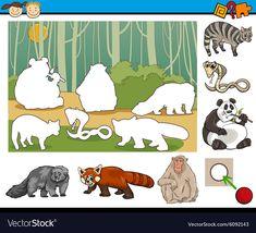 Educational preschool task cartoon vector image on VectorStock Free Vector Images, Vector Free, Farm Animals Preschool, Kids Education, Science Education, Educational Games, Activities For Kids, Cartoon Illustrations, Geek News