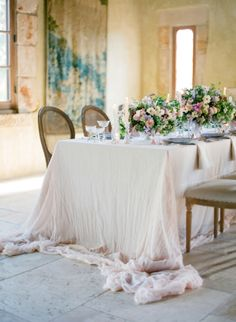 Ethereal Pastel Wedding Reception with Romantic Spring Florals | Jose Villa Photography | http://heyweddinglady.com/sweetest-spring-wedding-palette-ever/