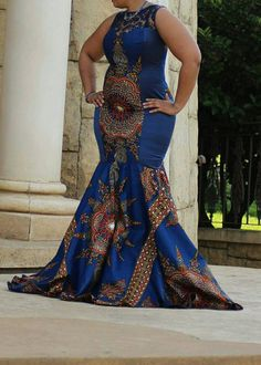 African print dashiki gown/ dashiki dress by TMFashionaccessories