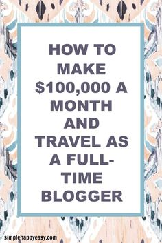 My friend Michelle Schroeder-Gardner started her blog in 2011 and is now making 100k per month as a full-time blogger. Read more about her story here!