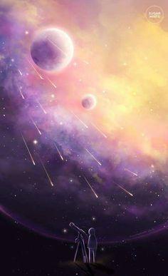 Read Galaxy from the story stock gallery by -rkfawnn (fawnnie) with reads. Fantasy Landscape, Fantasy Art, Manga Art, Anime Art, Pretty Backgrounds, Anime Kawaii, Anime Scenery, Galaxy Wallpaper, Storyboard