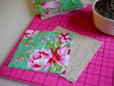 making lavender sachets by Kimberly Layton