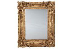 Louis XV Sweep Mirror, Gold