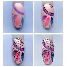 Attrapes rêves nail artYou can find Funky nail art and more on our website. Funky Nail Art, Funky Nails, Cute Nails, Nail Art Hacks, Nail Art Diy, Cool Nail Art, 3d Nails, Acrylic Nails, Nail Art Plume