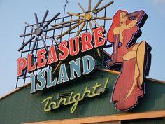 Jessica Rabbit around Pleasure Island.