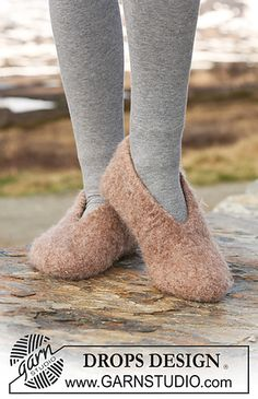 Felted Slippers - free pattern on Ravelry