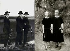 """""""Young Farmers, 1914"""" and """"Country Girls, 1925"""", by August Sander"""