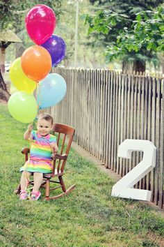 two year old 2 portrait photography balloons baby child girl