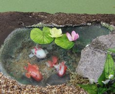 (Paula) Make Water Lilies in Dollhouse Miniature and Model Scales from Paper and Paint