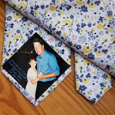 Dad Tie patch, Father's day gift ideas, Suit Label, Personalized Photo Tie Patch, Thank You Dad Label Personalized Labels, Personalized Wedding, Wedding Ties, Wedding Favors, Thank You Dad, Custom Ties, Father Of The Bride, Bridal Shower Gifts, Bride Gifts