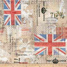 Tim Holtz Eclectic Elements Royal Mail Neutral from @fabricdotcom  Designed by Tim Holtz for Coats…