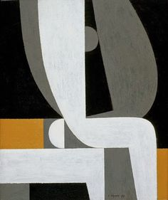 Yannis Moralis / Γιάννης Μόραλης is an outstanding figure in Modern Greek painting. He became a professor at the School of Fine Arts at a very early age and for years taught the younger generations of Greek painters. Greek Paintings, Deco Paint, Abstract Geometric Art, Greek Art, Mid Century Art, Letter Art, New Art, Sculpture Art, Modern Art