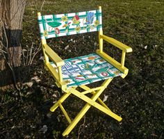 Painted Chair Folding Chair Directors Chair by CasaKarmaDecor, $55.00