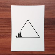 Mountain Biking Discover Image of Three - Signed Print Dreieckiges Tattoos, Bild Tattoos, Body Art Tattoos, Small Tattoos, Easy Drawings, Tattoo Drawings, Camping Tattoo, Natur Tattoos, Sibling Tattoos