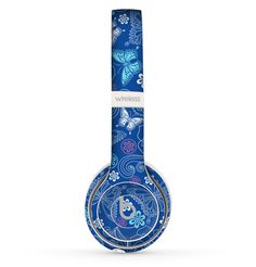 The Butterfly Blue Laced Skin Set for the Beats by Dre Solo 2 Wireless Headphones Cute Headphones, Sports Headphones, Noise Cancelling Headphones, Bluetooth Headphones, Ipod, Cheap Beats, Beats By Dre, Cool Phone Cases, At Home Gym