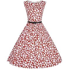 Floylyn Woman Retro Dresses Party Robe Vestidos Polka Dot Plus Size