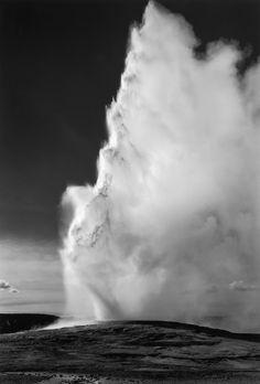 Ansel Adams, Old Faithful Geyser, Yellowstone National Park, Wyoming, ca. 1940