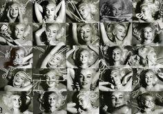 Pearl strewn Marilyn Monroe, by Bert Stern