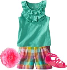 Love these colors together and the sandles are just soooo cute
