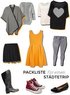 Meine Packliste für einen Städtetrip im Herbst - alle Teile sind in großen Größen erhältlich // Plus Size Vacation Capsule Wardrobe - What's in my suitcase?