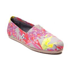 Womens TOMS Classic Floral Slip-On Casual Shoe @ Journey's