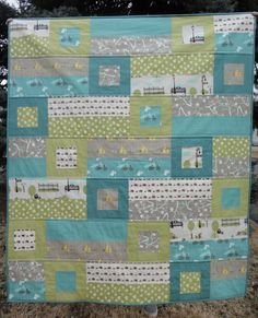 A Blue Sky Kind of Life: Bluebird Park Baby Quilt finished!