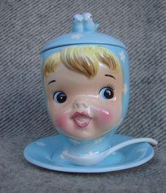 Napco miss cutie pie jam jar vintage