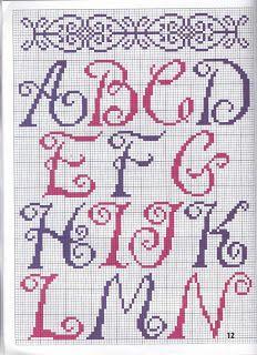 Mãos da Arte: Alfabeto Em Ponto Cruz