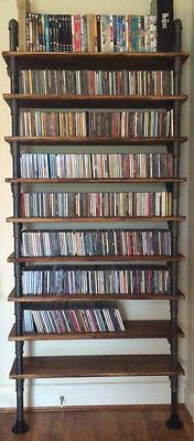 #Vintage #industrial Gas Pipe Cd Dvd Shelving Rack Display Unit #steampunk,  View
