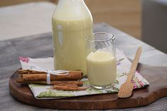 Homemade Eggnog, Cocoa Tea, Mexican Food Recipes, Glass Of Milk, Smoothies, Drinks, Cooking, Chocolate, Kitchen